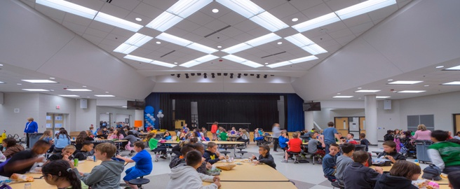 School Features Innovative Lighting Design