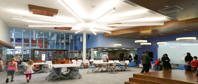 Renovated Hillel Day School Shines with Unique Architectural Lighting