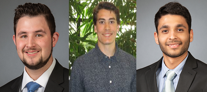 PBA Adds Three Returning Mechanical Co-Ops for Summer Term: K. Rhodes, J. Killian and Y. Bansal