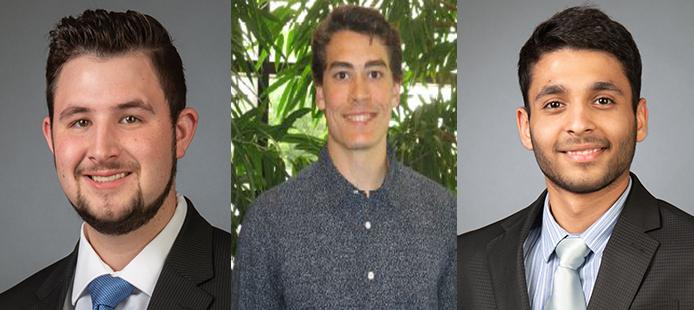PBA Adds Three Returning Mechanical Co-Ops for Summer Term: K. Rhodes, J. Killian and Y. Bansal