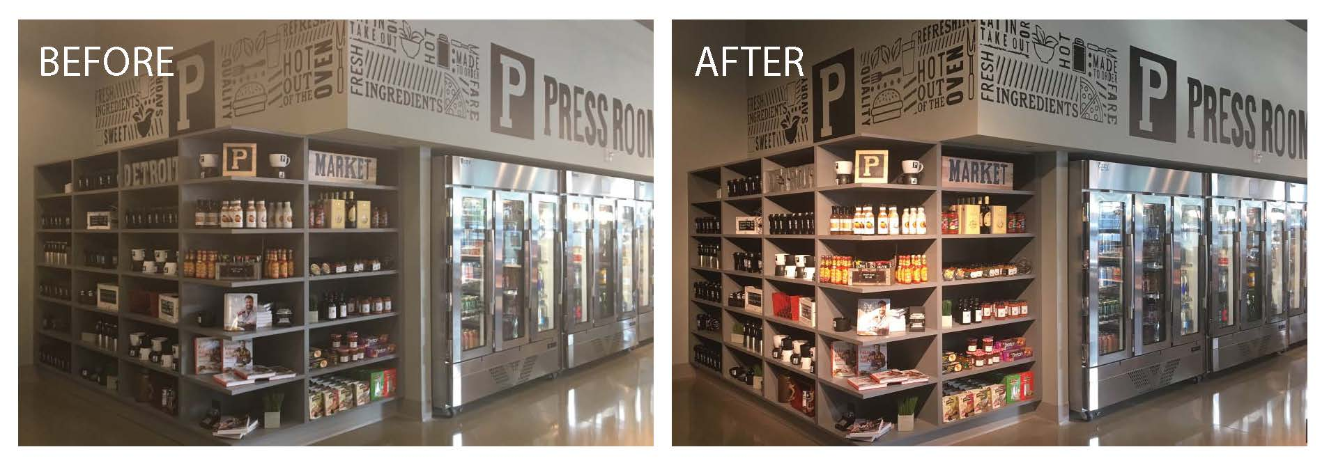 Illuminart Provides Architectural Lighting Design Solutions for Detroit Press Room Café and Market